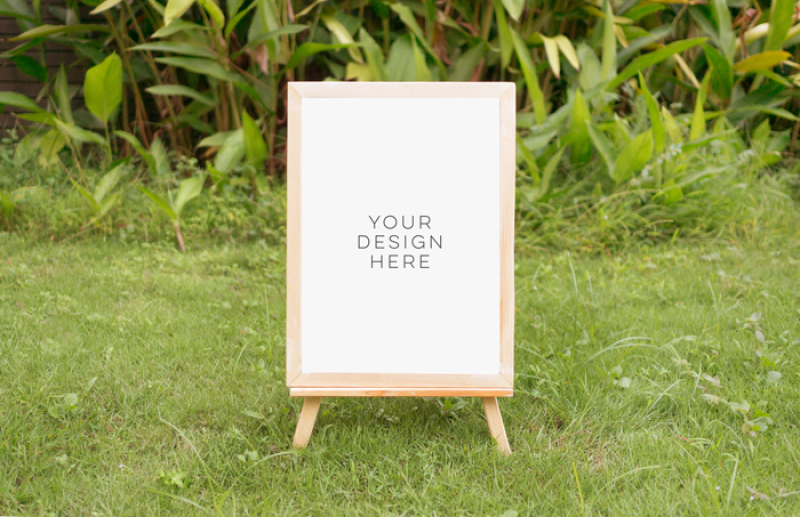 Free tropical summer mock up, summer mock up frame, summer wedding party frame, digital frame sign, landscape mock up, vertical mock up, PSD (PSD Mockups)