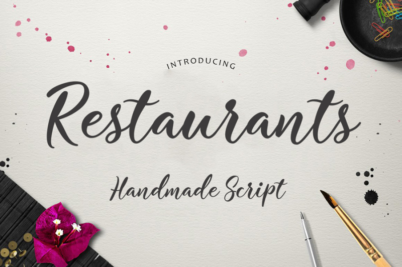 restaurants-script-font