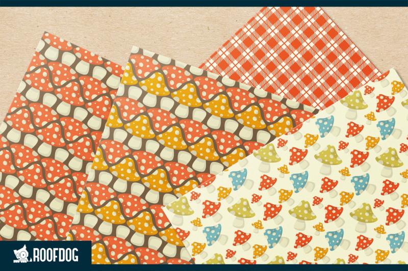 toadstool-digital-paper-fall-colors-autumn