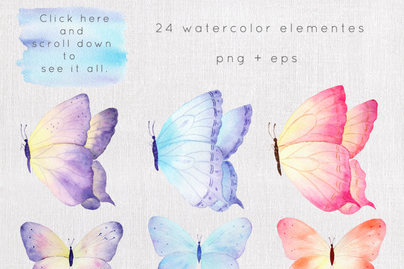 butterfly-watercolor-collection
