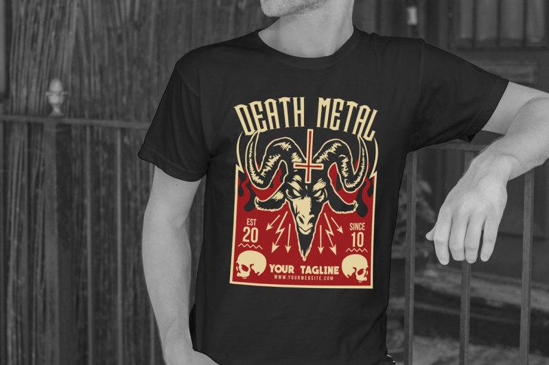 death-metal-t-shirt-design-template