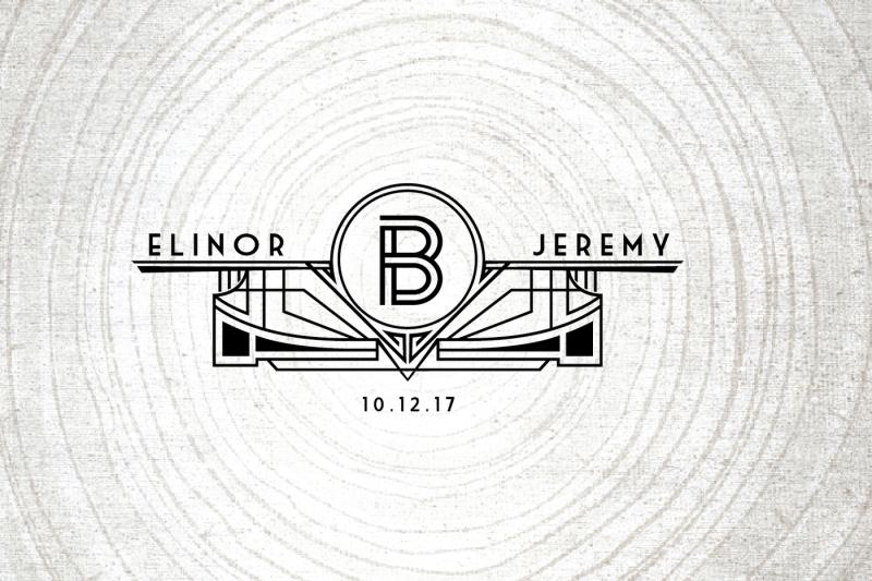 art-deco-wedding-logo