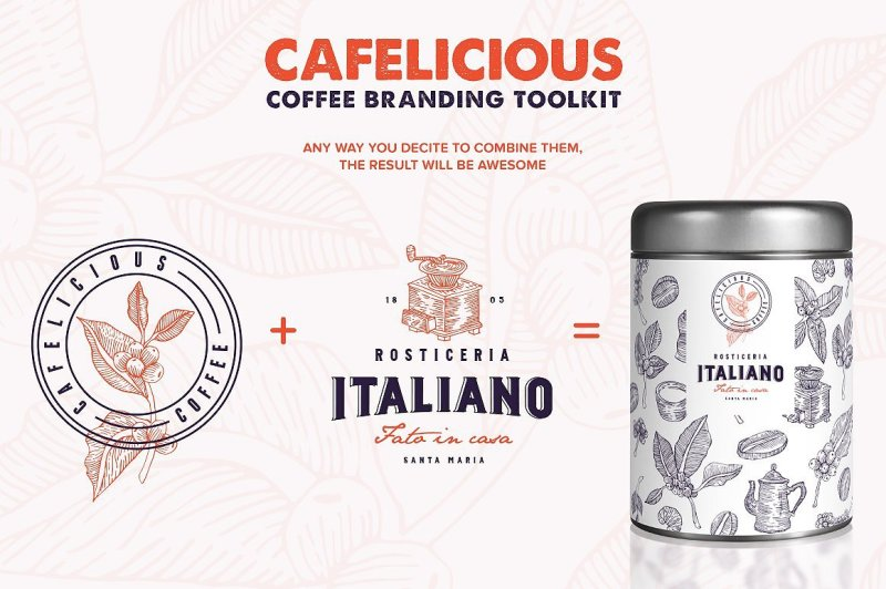 cafelicious-coffee-logo-kit