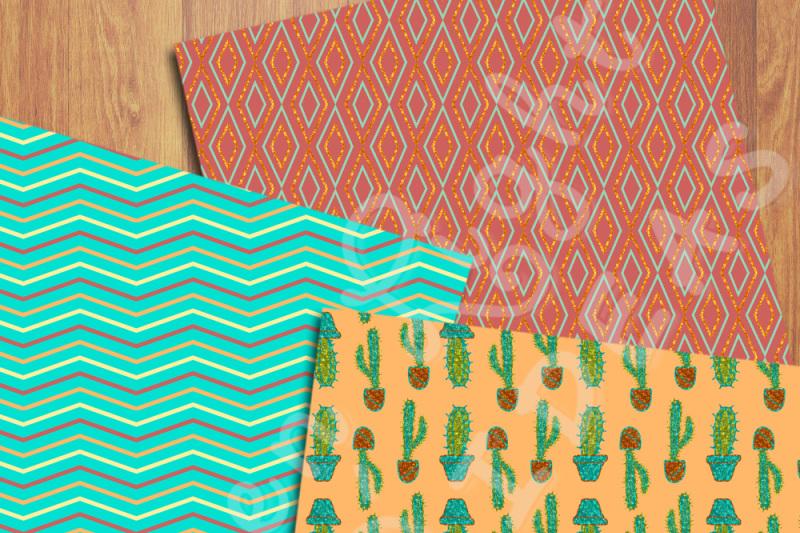 cactus-digital-papers-cacti-backgrounds-cactus-scrapbook-papers