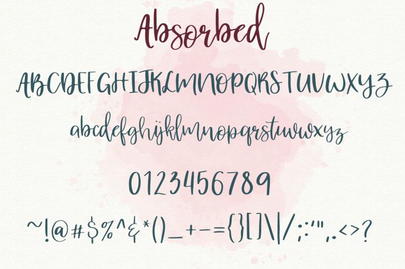 absorbed-script-font