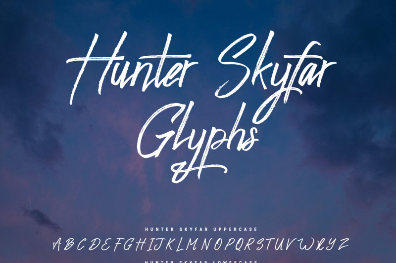 hunter-skyfar-dry-brush-script
