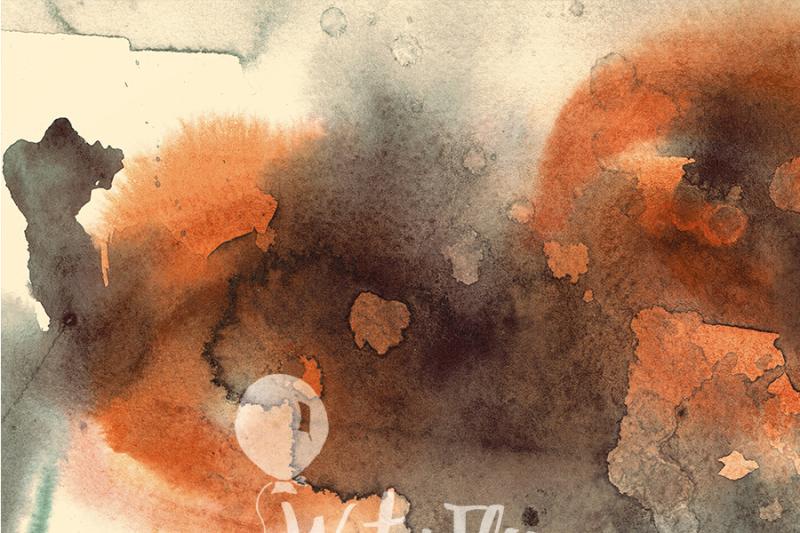 5-vintage-watercolor-texture-digital-papers-brown-old-retro-warm-orange-instant-digital-download-300-dpi-12x16-background-resource