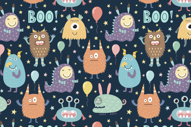 boo-uppercase-font-illustrations