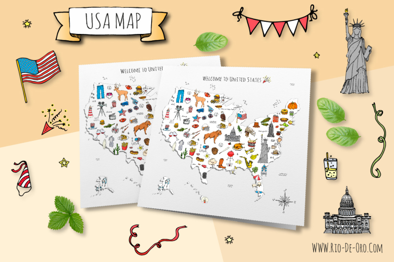 60-usa-color-hand-drawn-symbols