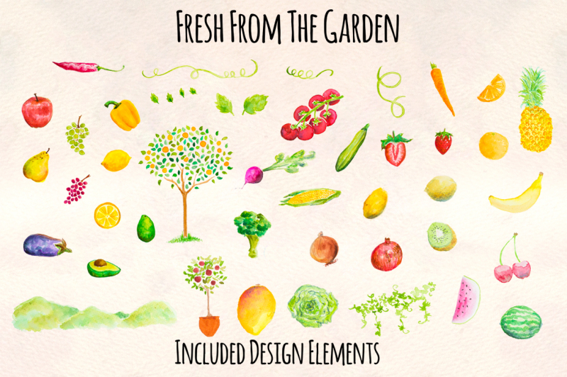 fruit-and-vegetable-watercolor-kit
