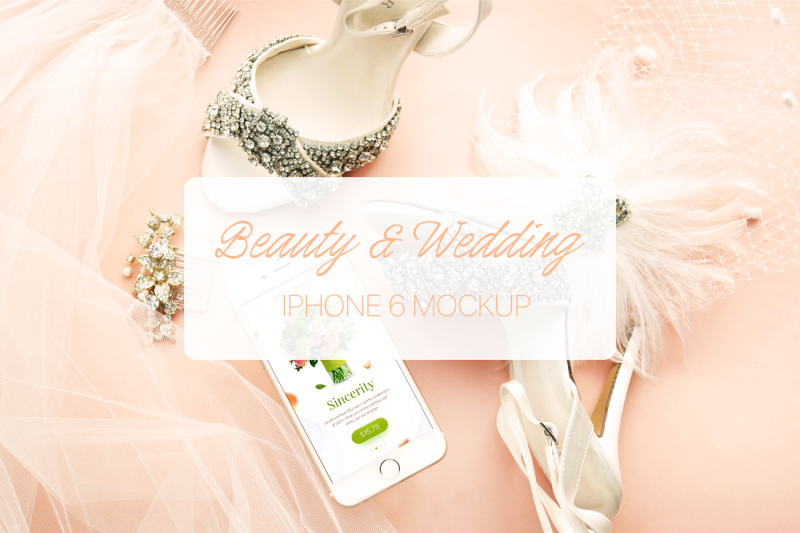 Free Wedding & Beauty iPhone 6 Mockup (PSD Mockups)