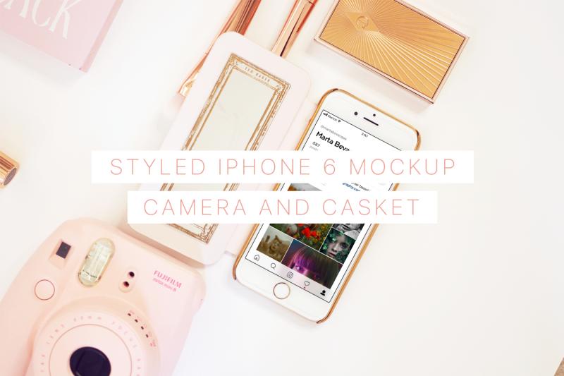Free Styled iPhone 6 Mockup (PSD Mockups)