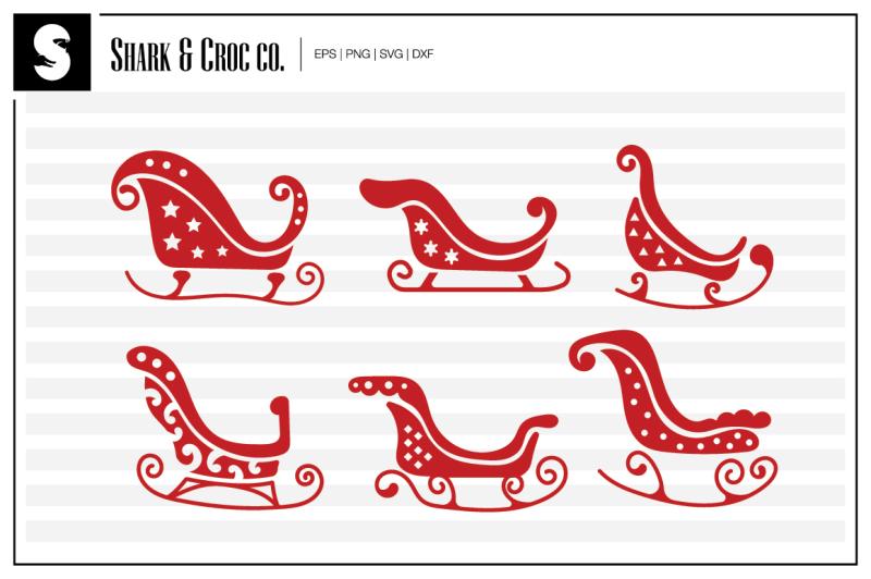 santas-sleigh-cut-files