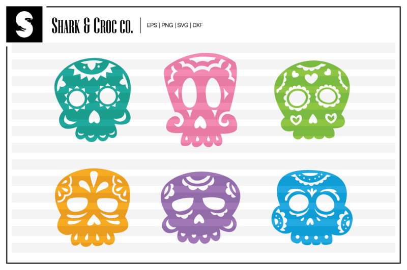 sugar-skulls-cut-files