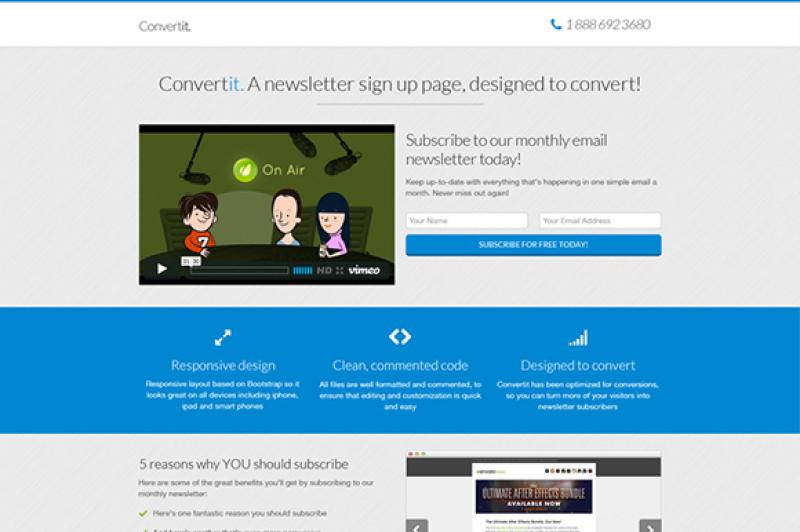 convertit-email-landing-page