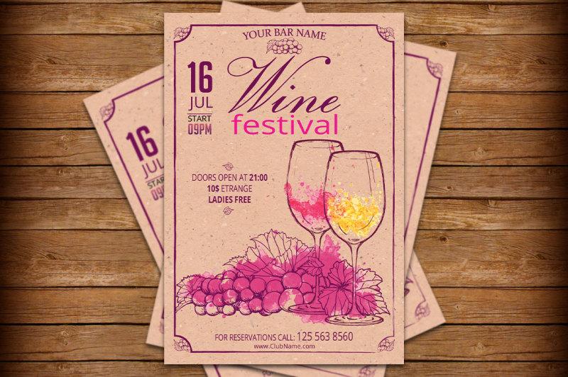wine-festival-retro-vintage-flyer