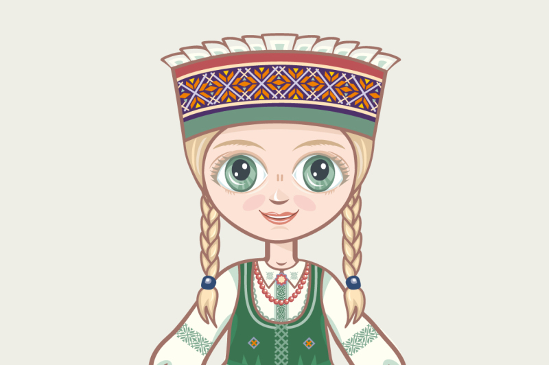 the-girl-in-lithuanian-dress-historical-clothes-lithuania