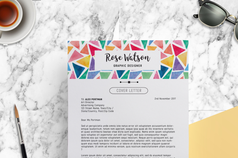 watercolor-triangle-resume-template-letterhead-g