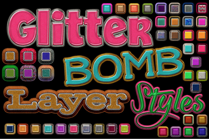 glitterbomb-photoshop-layer-styles