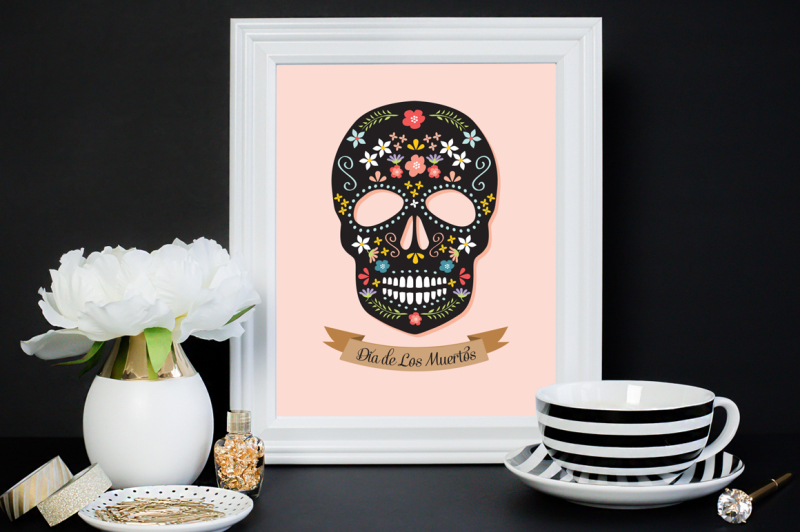 sugar-skull-illustration