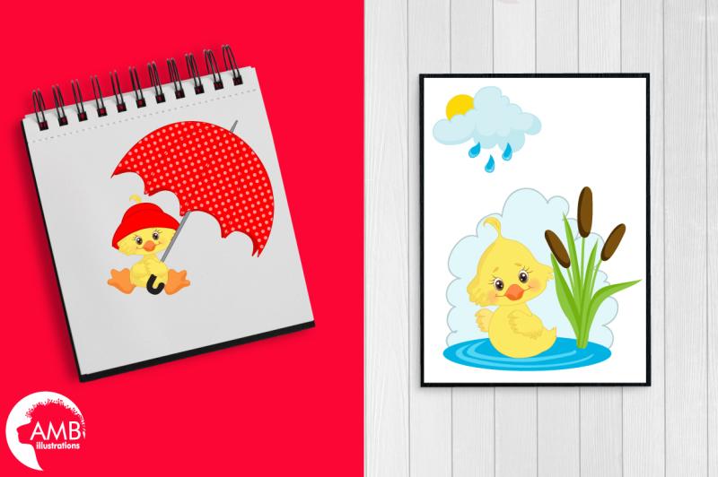 rainy-day-ducks-graphic-illustration-clipart-pack-amb-1823