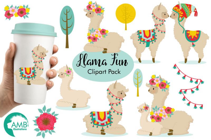 llama-fun-clipart-graphics-illustrations-amb-1985