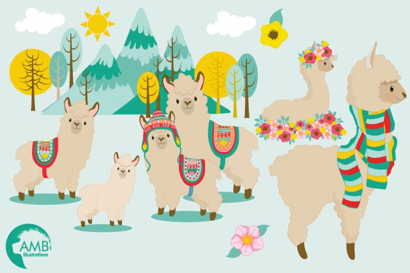 llama-fun-clipart-graphics-illustrations-amb-1985