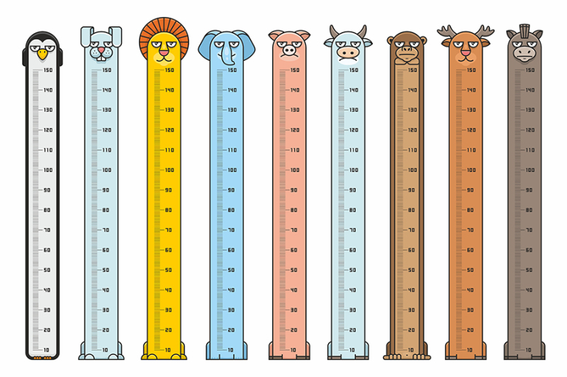 height-charts-animals-stickers