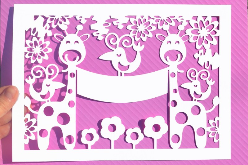 giraffe-paper-cut-svg-dxf-eps-files
