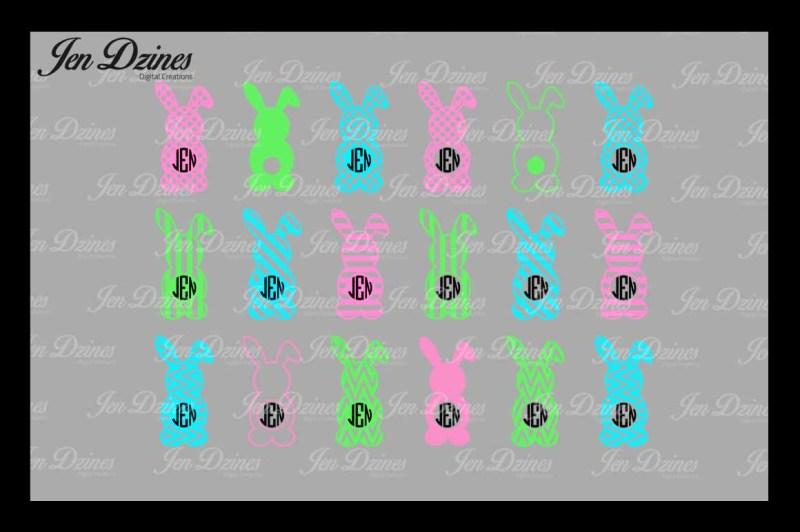 bunny-monogram-frame-svg-dxf-eps-png
