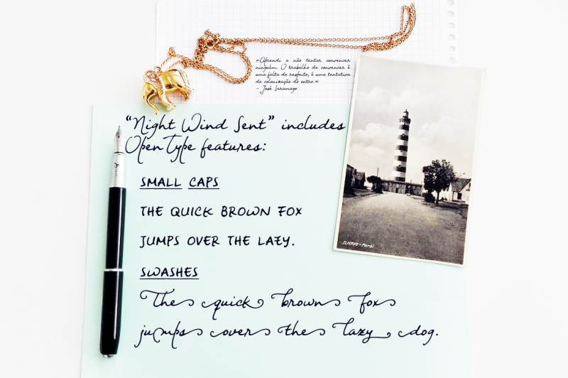 night-wind-sent-handwritten-font