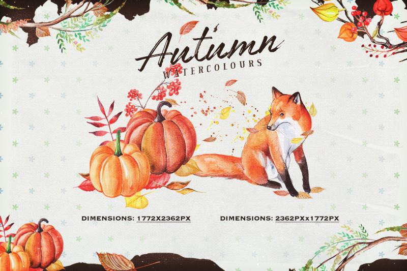 autumn-watercolour-wreaths-and-clipart