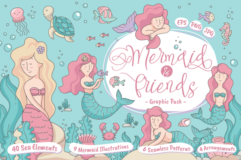 mermaid-and-friends
