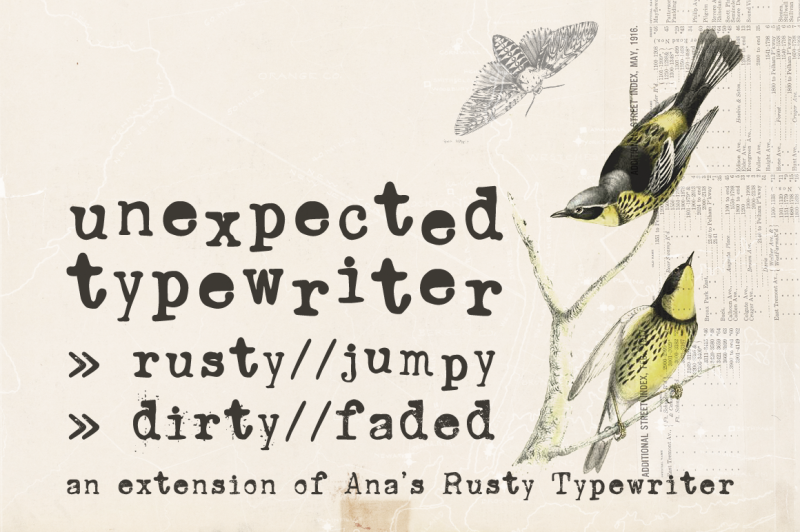 unexpected-typewriter-font