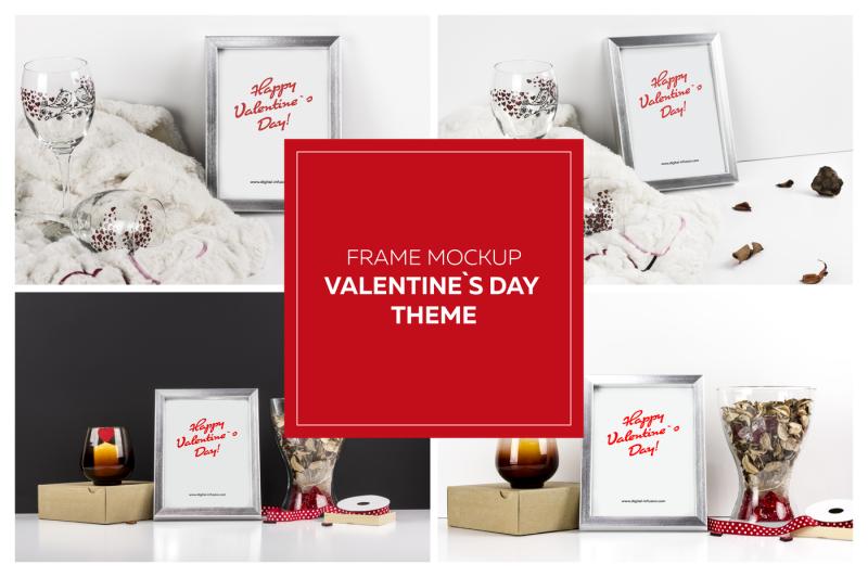 Free Frame Mockup - Valentine`s Day Theme (PSD Mockups)