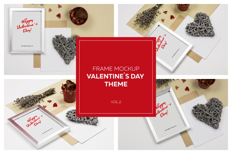 Free Frame Mockup VOL.2 - Valentine`s Day (PSD Mockups)
