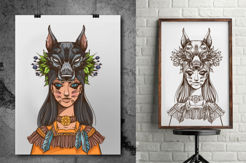 woman-wolf-totems