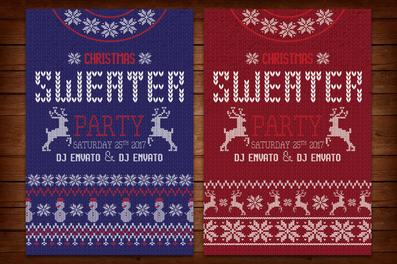 ugly-sweater-christmas-party-flyer-and-poster