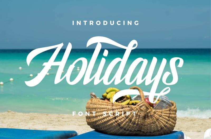 holidays-typeface
