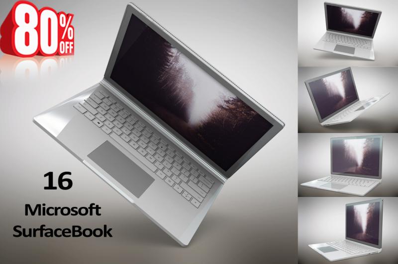 Free Laptop Surfacebook Mockup (PSD Mockups)