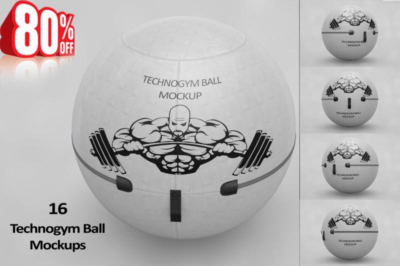 Free Gym Ball MockUp (PSD Mockups)