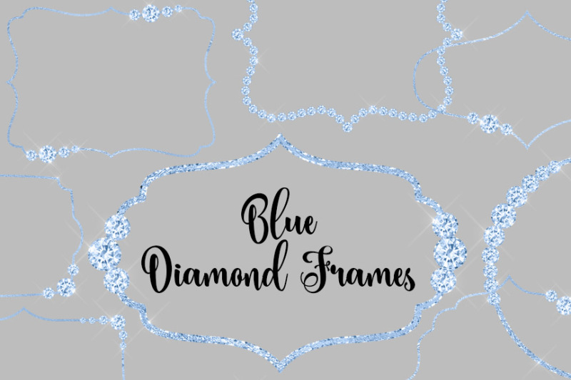 blue-diamond-frames-clipart