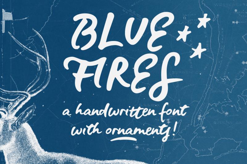 blue-fires-a-handwritten-font