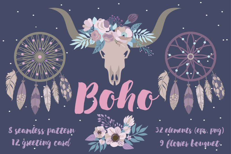 boho-elements-set