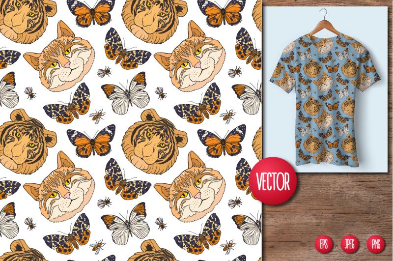 cats-butterflies-birds-patterns