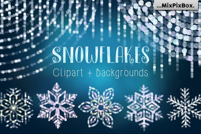 snowflakes-clipart-backgrounds