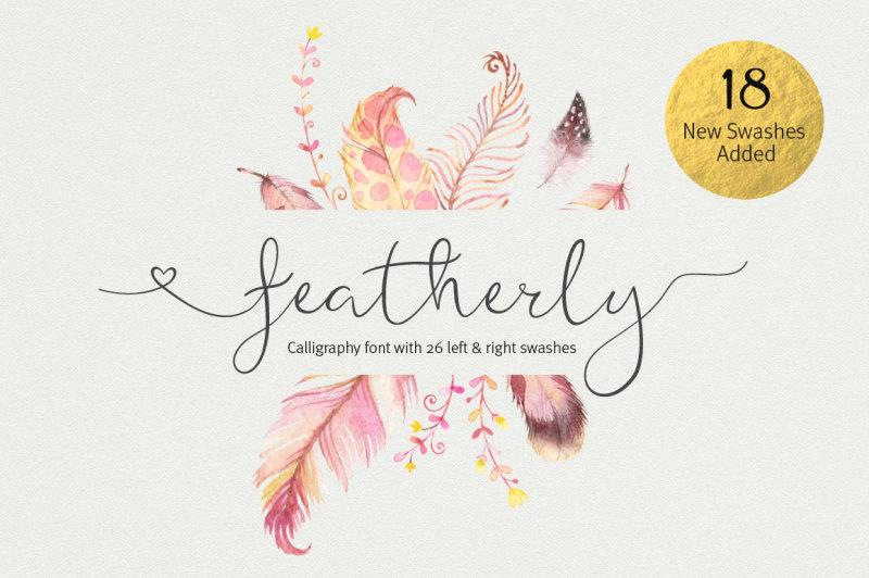 featherly-font-wedding-font
