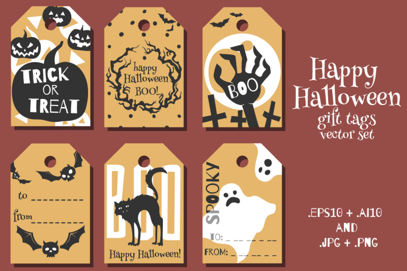 halloween-gift-tags-vector-set