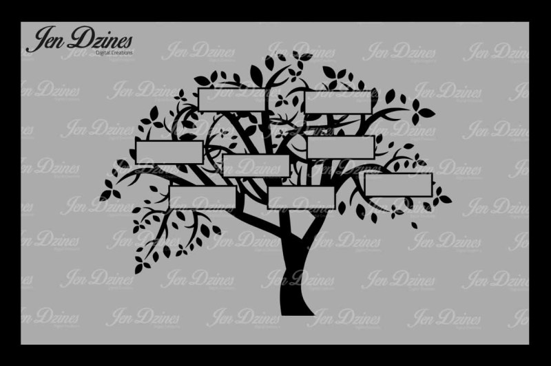 family-tree-8-names-svg-dxf-eps-png