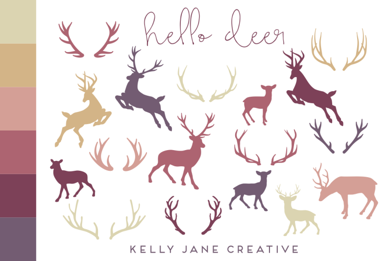 autumn-deer-and-antler-silhouette